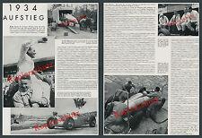 Auto Unión coches de carreras plata flechas Hans trozo gp nurburgring Zwickau Porsche 1934