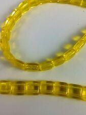 Czech glass Tile beads. 6mm 2 hole. By the strand (50 beads) - Lemon