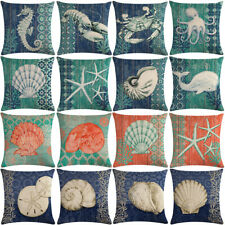 """18"""" Crab, lobster Pattern Cotton Linen Cushion Cover Pillow case Home Decor"""