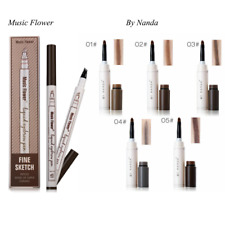 Eyebrow Pen Fine Sketch Liquid Eyebrow for Colours Waterproof Tattoo Natural