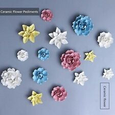 Handmade 3D Ceramic Flower Wall Decor Hangings Home Room Wall Art Decor Gift