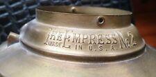THE EMPRESS No.2 Brass Oil Lamp Tank Reservoir Font Top