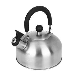 Vintage Teapot Stainless Steel 1.8-Liter Whistle Tea Kettle USA Freeshipping
