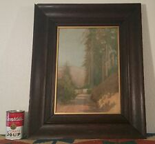 1905 WEISBROD San Francisco Arts Crafts vtg calif redwood tree antique painting