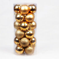 60mm 24pcs Home Party Christmas Tree Hanging Decor Ball Bauble Ornament Decor