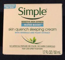 Simple Water Boost Sleeping Cream, Skin Quench - 1.7 fl oz