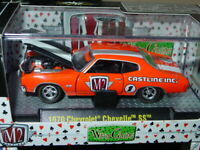 M2 MACHINES 1970 70 CHEVROLET CHEVELLE SS COLLECTIBLE MUSCLE CAR -Orange, NICE!