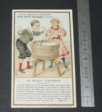 CHROMO 1895-1910 AUX 2 PASSAGES LYON TOM TIT ARTHUR GOOD LA BOUGIE FLOTTANTE