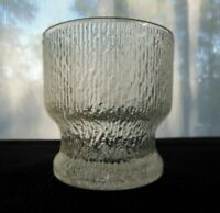 "Indiana Glass Clear Crystal Ice 12 oz ""Old Fashioned"" Tumbler"