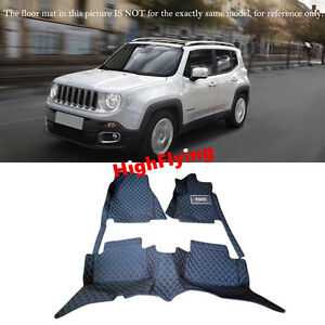 RHD Car Floor Mats For JEEP Renegade 2016 2017 2018 Right hand drive carpets pad