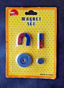 5pc MINI MAGNETIC MAGNET GAME PLAY SET HORSESHOE BAR TRAVEL GAME