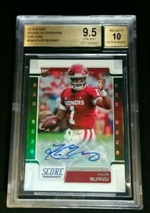 BGS 9.5/10 1/1 KYLER MURRAY RC AUTO /6 SSP END ZONE *ROOKIE BASE #384 2019 Score