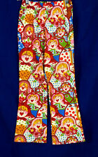 306 Oilily girl multi-color russian dolls casual pants AWESOME EUC Size 9-10