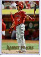 Albert Pujols 2019 Topps Stadium Club 5x7 Gold #45 /10 Angels
