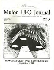 MUFON  Mutual UFO Network Journal Triangular Object Over Brussels Over belgium