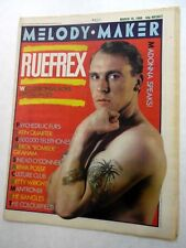 MELODY MAKER Music Magazine 3/15/1986 RUEFREX Madonna NILS LOFGREN etc. NM#6 h