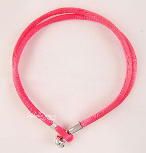 "Pandora Neon Pink Stoff Kordel Einzel Armband 19.5cm/7.6 "" 590749CPH-S3 Neu"