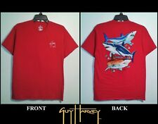 GUY HARVEY SHIRT - SHARK SIGNATURE GRAPHIC (YOUTH XL RED) FISHING OUTDOOR VG++