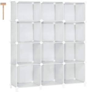 Cube Storage Closet Organizer Shelf Cubes Plastic Book Bookcase Bookcase 12Cubes