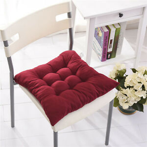 Sofa Cushions Chair Seat Kitchen Plaid With Tie On Pad Dining Room Car Garden
