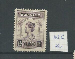 Suriname 102C  Wilhelmina  MH/ongebr  CV 42 €