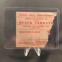 Black Sabbath Town Hall Birmingham England Concert Ticket Stub Vitg January 1972