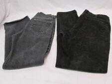 2 Pair of Mens Black Denim Jeans GAP and Faded Glory Dark & Faded 30x32