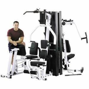Body Solid Exm3000 Multi Gym 420lb weight Heavy duty + attachments