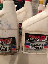VINTAGE (2) Power Service Car Detailer Cleans Metal Wheels & White Walls 32 Oz