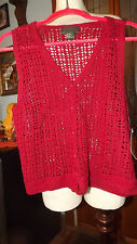 Ladies Willowbend Sportingwear Red Vest Size Small NWT NEW Ramie & Cotton