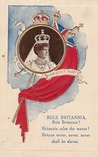 Royalty Postcard - Rule Britania - H.M Queen Mary