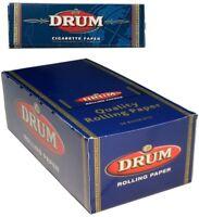 DRUM BLUE REGULAR STANDARD SMOKING CIGARETTE TOBACCO ROLLING PAPERS MULTI PACKS