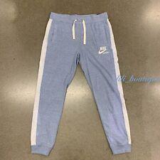 NWT Nike AT7805-460 Women Gym Vintage Sportswear Slim Pants Blue White Siz Large