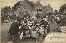 Locmariaquer France Picnic Gathering c1910 Postcard