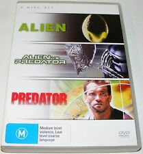 ALIEN / ALIEN vs PREDATOR / PREDATOR--- (DVD 3 Disc Set)