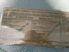 #2022# Menu 3 , French MRE IRP Military Food RCIR 24H MENU Combat Box US France