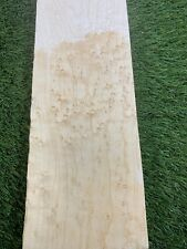 "15/16"" x 4"" x 30"" Maple, Bird's-Eye Thin Stock Lumber Boards Wood Crafts, Bass"