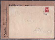 Böhmen & Mähren Kuvert für Geschäftspapiere gelaufen 1943 nach Wien ANSEHEN