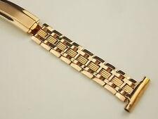 """Old Art Deco Rose gold filled Speidel watch band bracelet 16mm 5/8"""" Unused NOS"""