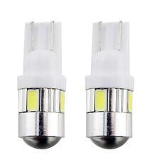 50Pcs Super White T10 Wedge 6 SMD 5730 LED Light bulbs 194 W5W 2825 168 921 12V