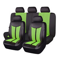 11pcs universal car seat covers protectors mesh qality breathable green
