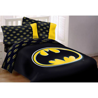 DC Batman Emblem 3 Piece Reversible Luxury Queen Size Comforter Set