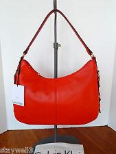 CALVIN KLEIN  Leather Hobo Satchel + Dust Bag NWT $198