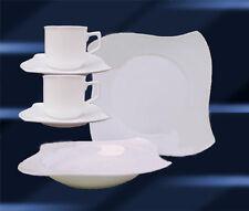 60 tlg Geschirr Tafelservice Kaffeeset Porzellan 12 Personen AVANTGARDE WEISS