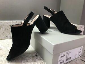 Carvela Black Suede open toe shoes / sandals.  Hardly worn. UK 5. Eur 38
