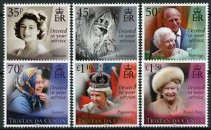 Tristan Da Cunha Royalty Stamps 2021 MNH Queen Elizabeth II 95th Birthday 6v Set