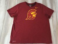 Nike Tee USC Trojans Dri-Fit T-shirt Mens Adult 3XL XXXL Red Athletic Cut Swoosh