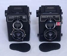 2X LUBITEL 166 Vintage TLR Film Camera 75mm f/4.5 Lens LOMO Olympic USSR