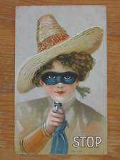Cowgirl in Mask Pointing Gun Crucico Panetela Cigars Fold-Open Mechanical PC myn