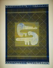 Ervin Neuhaus épreuve unique Duo signé art abstrait p 613